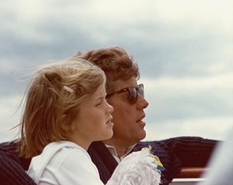 J.F. Kennedy e sua figlia Caroline